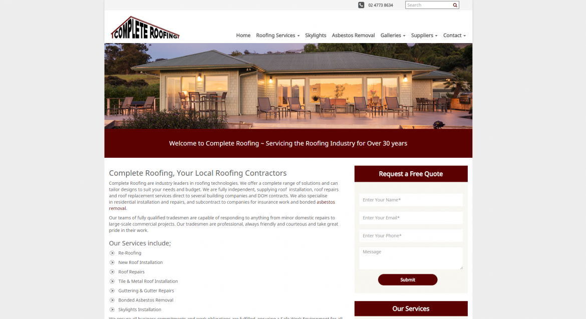 Complete Roofing Website